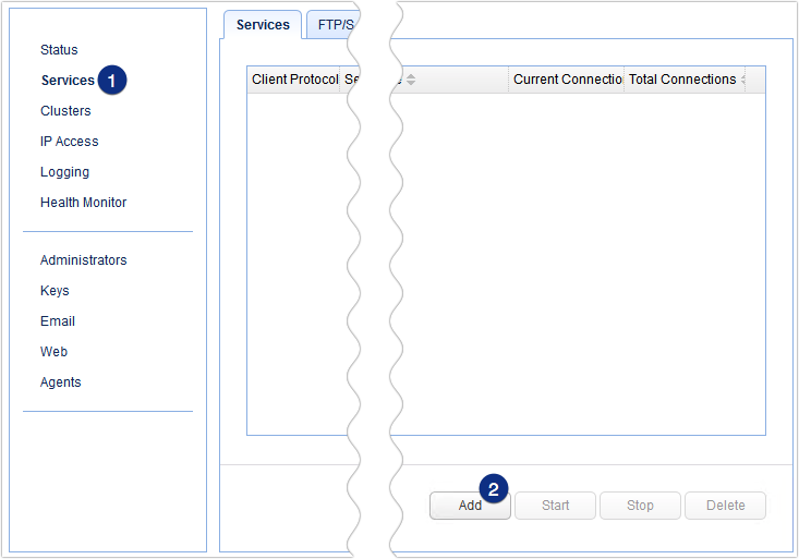 add reverse proxy service