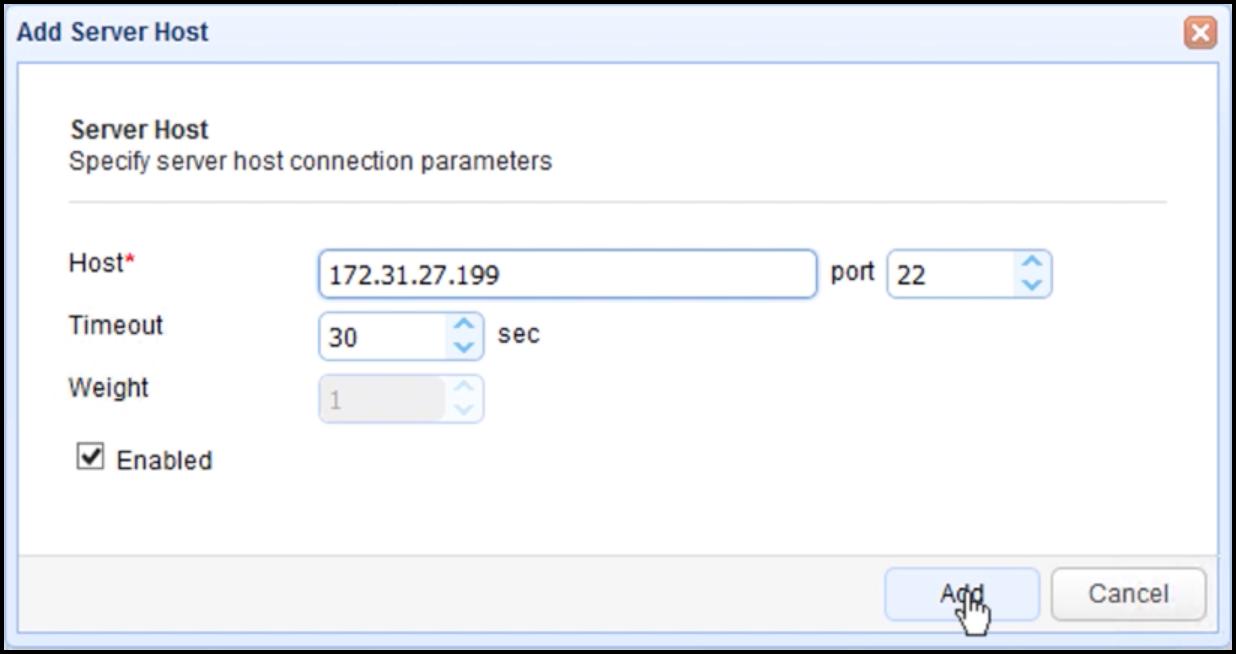 add server host to ha cluster