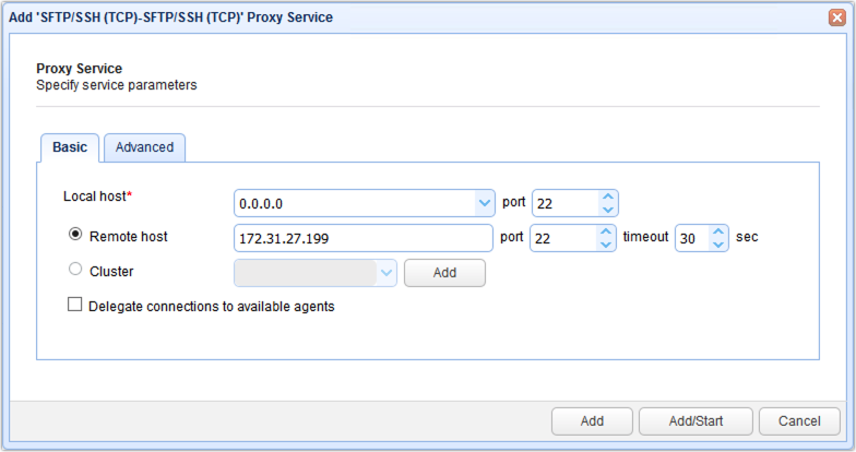 add sftp ssh proxy service