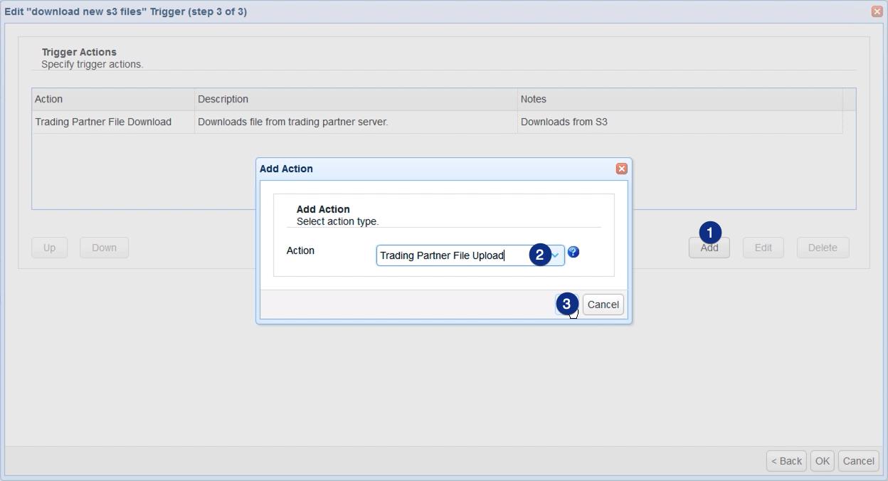 add trading partner file upload action