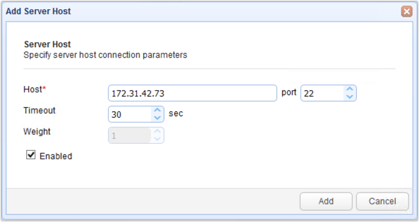 addserverhostparameters