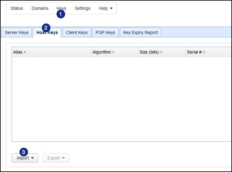 adfs import host keys