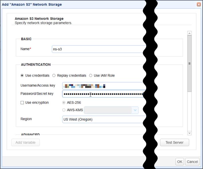 amazon s3 network storage details