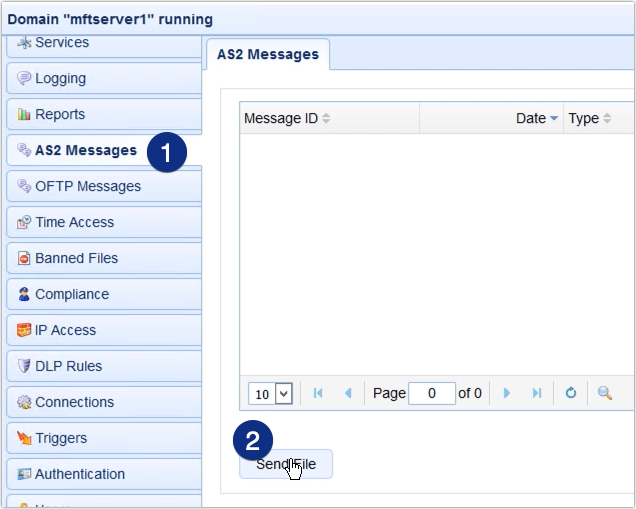 as2 send file manually