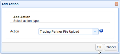 as2 transfer trigger action add file upload