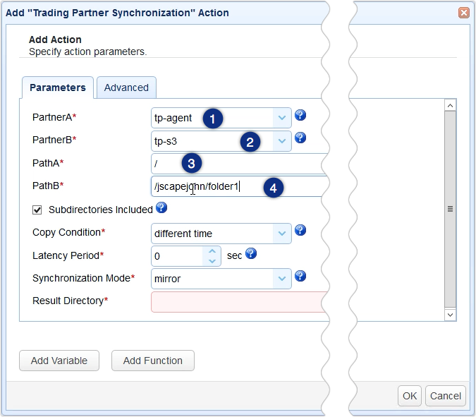 aws s3 sync windows - trading partner synchronization action parameters 1-1