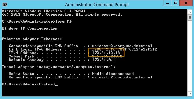 aws s3 sync windows - windows host ip address