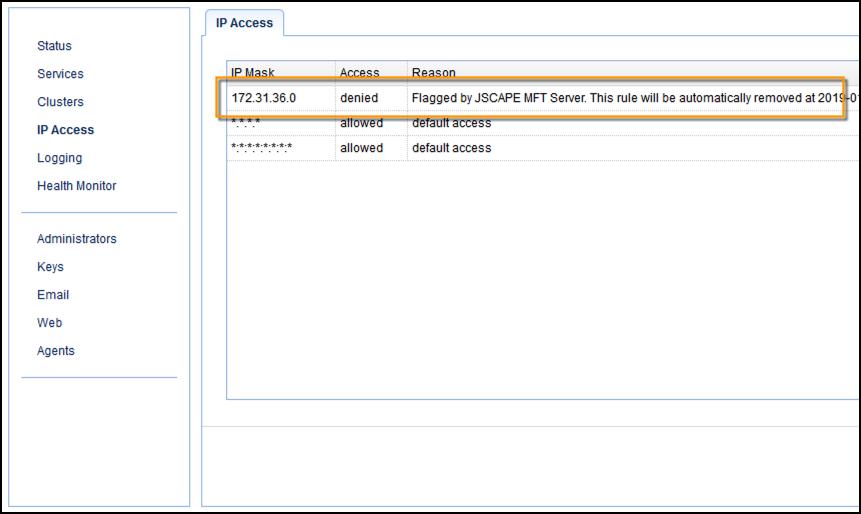 blocked ip at mft gateway