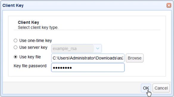client key use key file