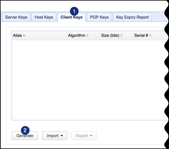 client keys generate
