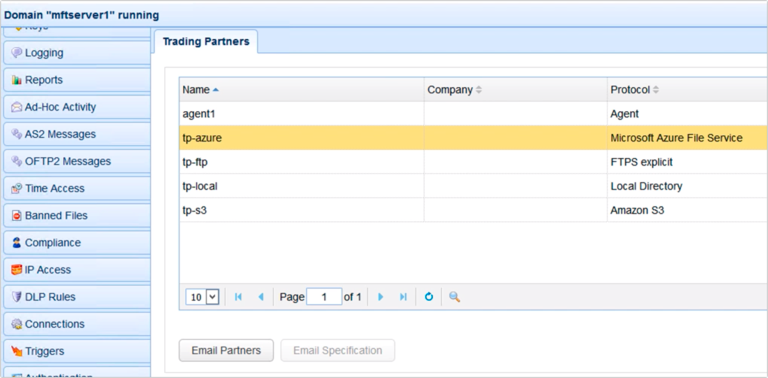 copy data from azure to s3 - trading partner azure file service newly created