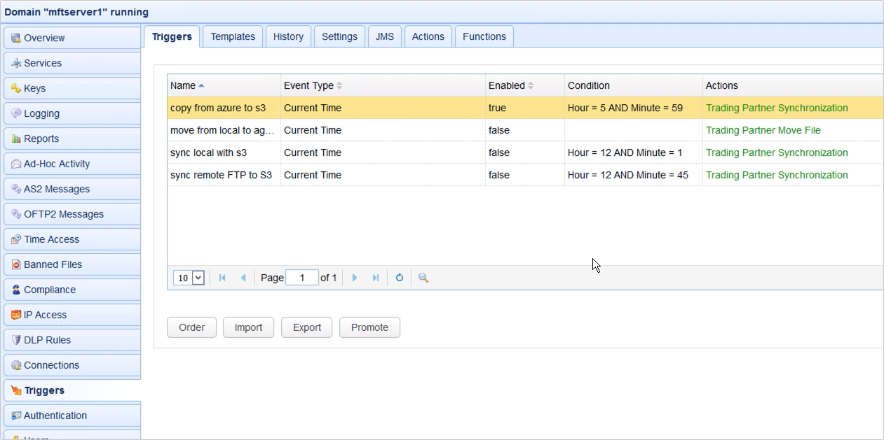 copy data from azure to s3 - trading partner synchronization action new