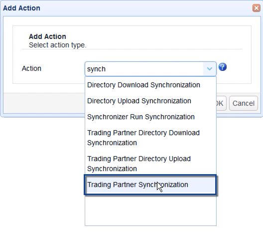copy data from azure to s3 - trading partner synchronization action