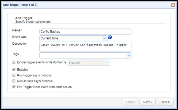 current time server configuration backup