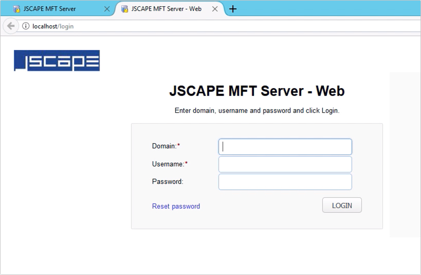customizing web user interface of https file transfer service - 1
