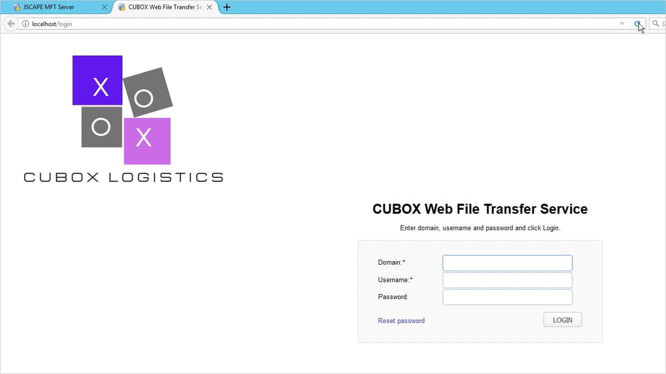 customizing web user interface of https file transfer service - 11-1