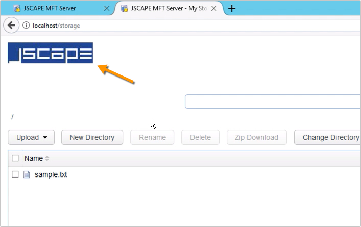 customizing web user interface of https file transfer service - 13