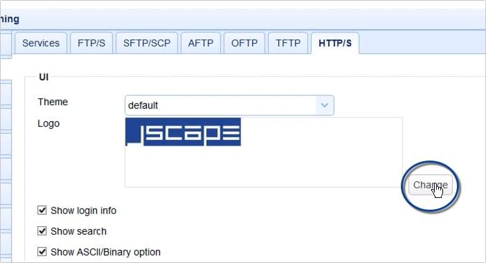 customizing web user interface of https file transfer service - 16