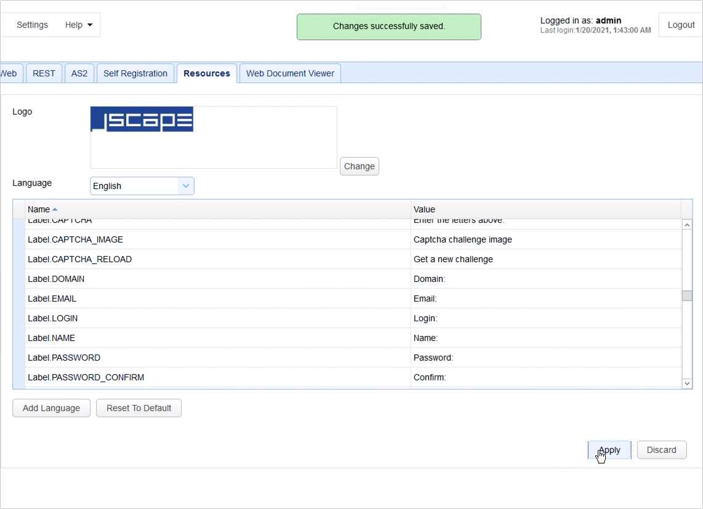 customizing web user interface of https file transfer service - 6