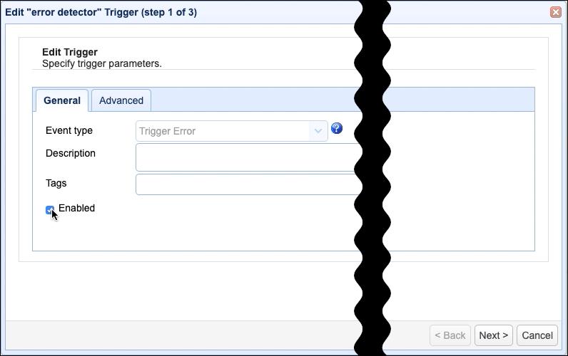 enable error detector