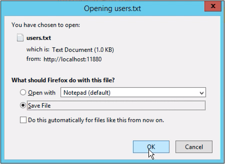 export and import users in mft server - json text file