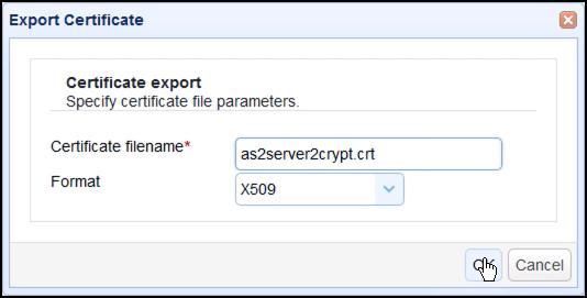 export certificate x509 as2