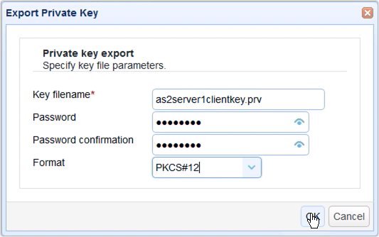 export private key dialog