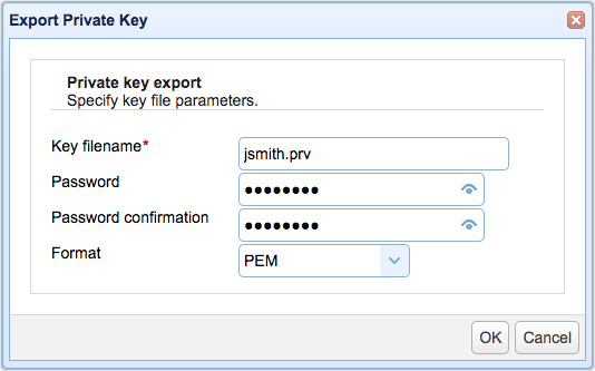 export private key-1
