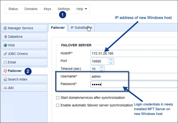failover module on mft server