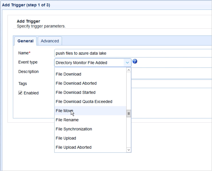 how to push files from local to azure data lake based on an event - 10