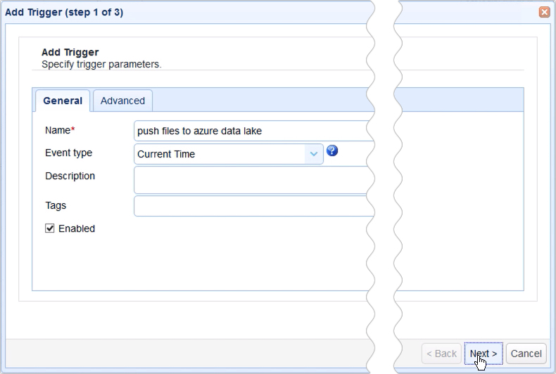 how to push files from local to azure data lake based on an event - 11