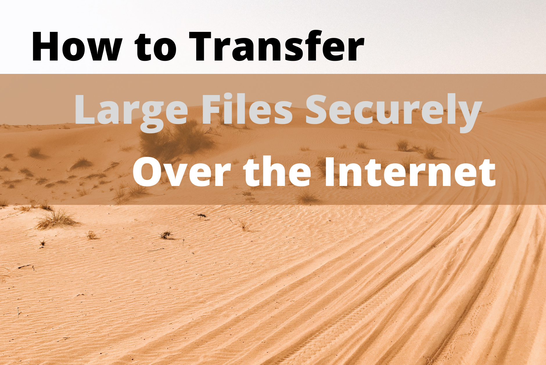 how to transfer large files securely over the internet