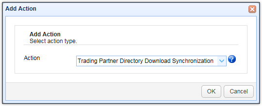 add trigger action trading partner directory download file synchronization