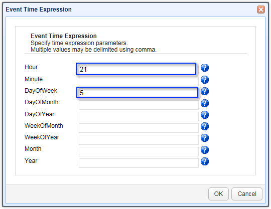 event time expression scheduled file synchronization