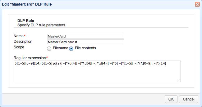 mastercard regular expression dlp.png