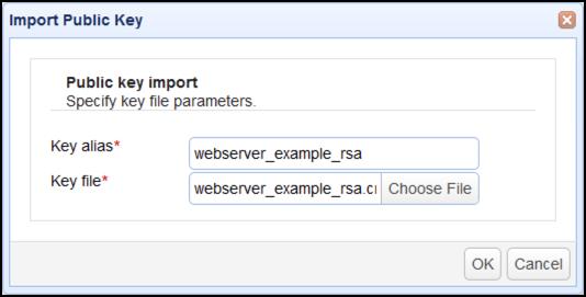 import public key as2 sender
