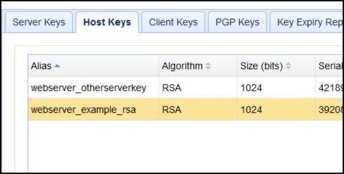 imported host key
