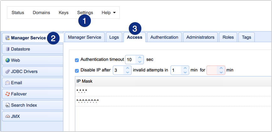 ip access for admins