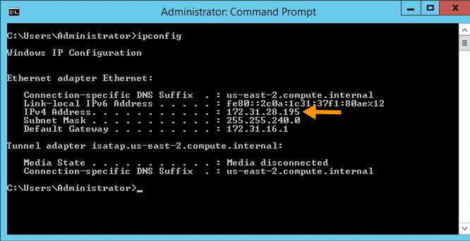 ip address of remote sftp server