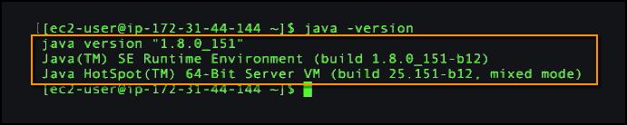 java -version in linux-1