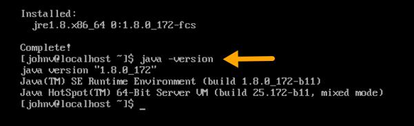 java version installed