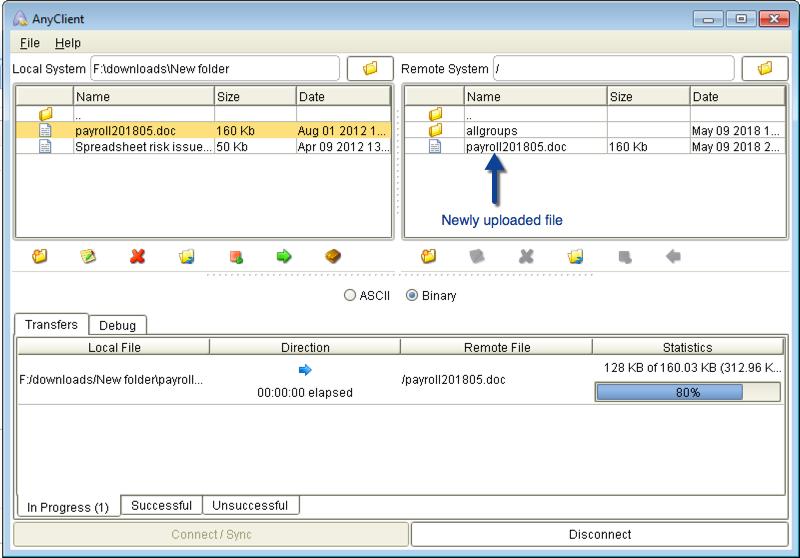 joey newly uploaded file mft server