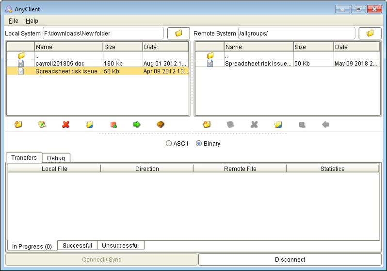 joey upload spreadsheet mft server