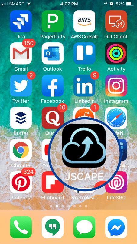 jscape iphone app