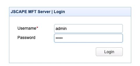 jscape mft server login