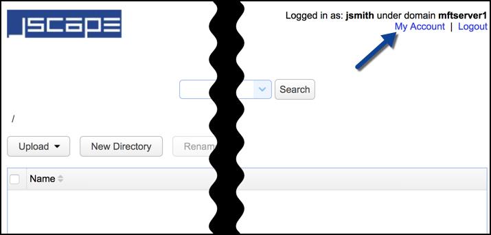 jscape mft server my account web user interface