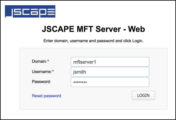 jscape mft server web user interface login