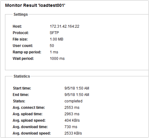 load testing summary upload speed download speed-1