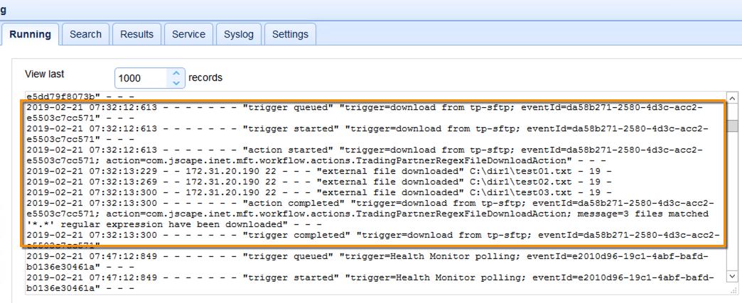 log on mft server 1