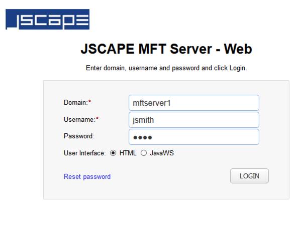 login jscape mft server user web ui